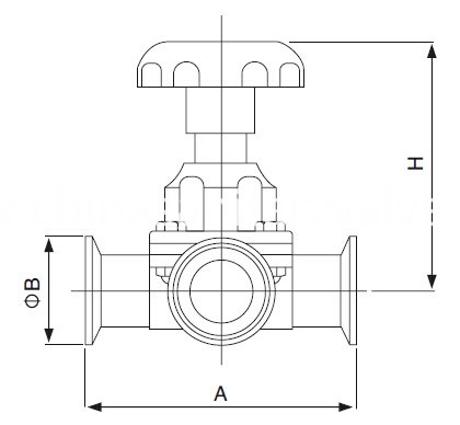 sanitary-three-way-diaphragm-valve-kaysen